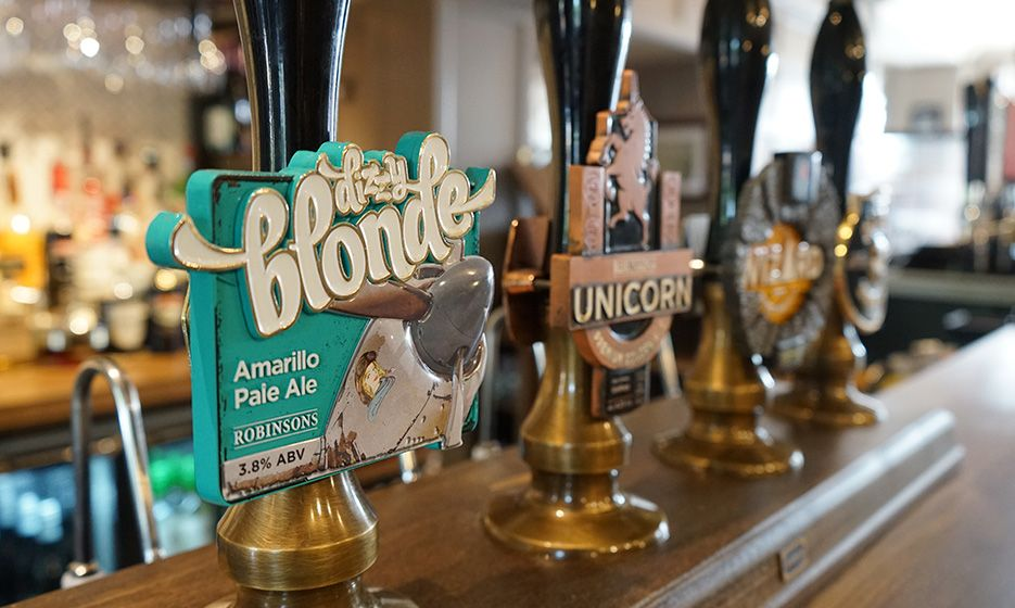 A picture of our award-winning cask ales at Royal Ship Hotel
