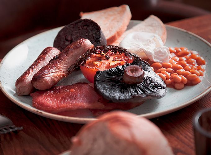 Delicious picture of our full welsh breakfast one of the best near Barmouth